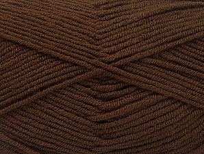 Fiber Content 100% Acrylic, Brand Ice Yarns, Coffee Brown, Yarn Thickness 4 Medium  Worsted, Afghan, Aran, fnt2-60970