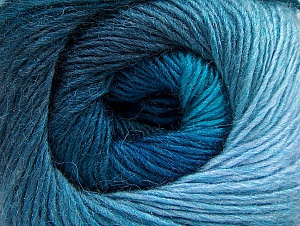 Fiber Content 60% Premium Acrylic, 20% Wool, 20% Alpaca, Turquoise Shades, Brand Ice Yarns, Blue, Yarn Thickness 2 Fine  Sport, Baby, fnt2-60996