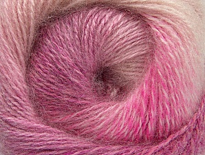 Fiber Content 75% Premium Acrylic, 15% Wool, 10% Mohair, Pink Shades, Brand ICE, Yarn Thickness 2 Fine  Sport, Baby, fnt2-61001