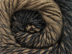 Fiber Content 75% Premium Acrylic, 25% Wool, Brand Ice Yarns, Camel, Black, Yarn Thickness 4 Medium  Worsted, Afghan, Aran, fnt2-61015