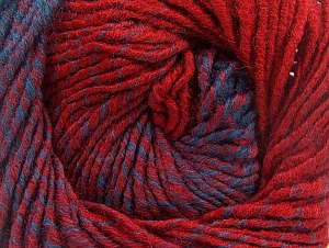 Fiber Content 75% Premium Acrylic, 25% Wool, Red, Brand Ice Yarns, Blue, Yarn Thickness 4 Medium  Worsted, Afghan, Aran, fnt2-61021