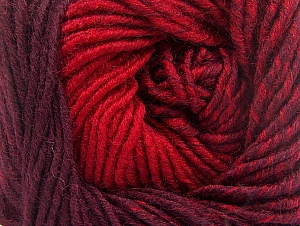 Fiber Content 75% Premium Acrylic, 25% Wool, Red, Maroon, Brand Ice Yarns, Yarn Thickness 4 Medium  Worsted, Afghan, Aran, fnt2-61022