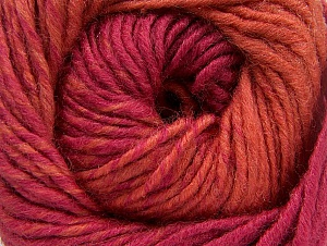 Fiber Content 75% Premium Acrylic, 25% Wool, Orange, Brand Ice Yarns, Dark Pink, Yarn Thickness 4 Medium  Worsted, Afghan, Aran, fnt2-61078