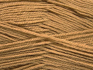 Fiber Content 100% Acrylic, Light Camel, Brand Ice Yarns, Yarn Thickness 3 Light  DK, Light, Worsted, fnt2-61082