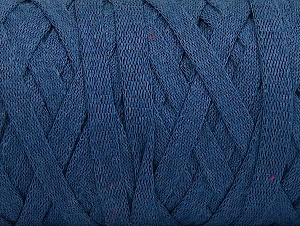 Fiber Content 100% Recycled Cotton, Jeans Blue, Brand Ice Yarns, Yarn Thickness 6 SuperBulky  Bulky, Roving, fnt2-61088