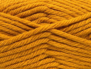Fiber Content 100% Acrylic, Brand Ice Yarns, Gold, Yarn Thickness 6 SuperBulky Bulky, Roving, fnt2-61090