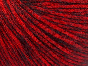 Fiber Content 85% Acrylic, 15% Bamboo, Red, Brand Ice Yarns, Black, Yarn Thickness 4 Medium  Worsted, Afghan, Aran, fnt2-61097
