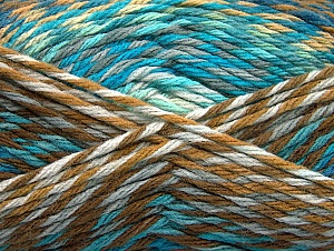 Fiber Content 100% Premium Acrylic, Turquoise Shades, Light Grey, Brand Ice Yarns, Brown Shades, Yarn Thickness 4 Medium  Worsted, Afghan, Aran, fnt2-61104