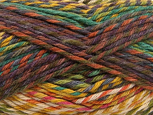 Fiber Content 100% Premium Acrylic, Teal, Maroon, Brand Ice Yarns, Green Shades, Copper, Yarn Thickness 4 Medium  Worsted, Afghan, Aran, fnt2-61106