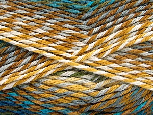 Fiber Content 100% Premium Acrylic, Turquoise, Brand Ice Yarns, Grey, Brown Shades, Blue, Yarn Thickness 4 Medium  Worsted, Afghan, Aran, fnt2-61108