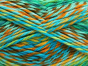 Fiber Content 100% Premium Acrylic, Turquoise, Brand Ice Yarns, Green Shades, Brown Shades, Yarn Thickness 4 Medium  Worsted, Afghan, Aran, fnt2-61112