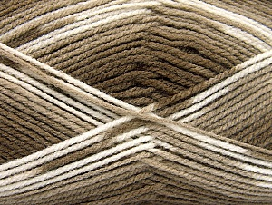 Fiber Content 100% Baby Acrylic, White, Brand Ice Yarns, Brown Shades, Yarn Thickness 2 Fine  Sport, Baby, fnt2-61131
