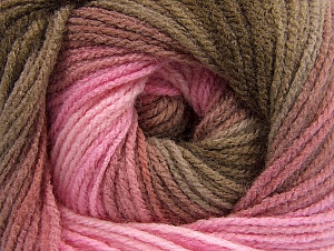 Fiber Content 100% Acrylic, Pink Shades, Brand Ice Yarns, Brown Shades, Yarn Thickness 3 Light  DK, Light, Worsted, fnt2-61136