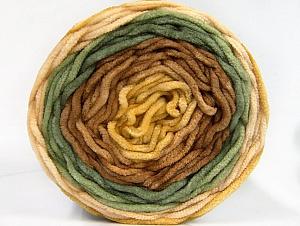 Fiber Content 100% Acrylic, Khaki, Brand Ice Yarns, Brown Shades, Yarn Thickness 4 Medium  Worsted, Afghan, Aran, fnt2-61158