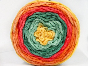 Fiber Content 100% Acrylic, Yellow, Salmon, Orange, Brand Ice Yarns, Green Shades, Yarn Thickness 4 Medium  Worsted, Afghan, Aran, fnt2-61168
