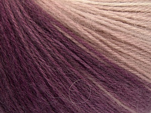 Fiber Content 60% Acrylic, 20% Angora, 20% Wool, Purple Shades, Brand ICE, Grey Shades, Cream, Yarn Thickness 2 Fine  Sport, Baby, fnt2-61197
