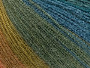 Fiber Content 60% Acrylic, 20% Wool, 20% Angora, Turquoise, Salmon, Brand Ice Yarns, Green Shades, Blue, Yarn Thickness 2 Fine  Sport, Baby, fnt2-61204