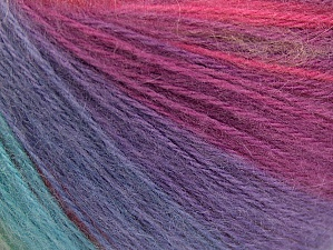Fiber Content 60% Acrylic, 20% Wool, 20% Angora, Yellow, Turquoise, Purple, Pink, Brand Ice Yarns, Green Shades, Yarn Thickness 2 Fine  Sport, Baby, fnt2-61213