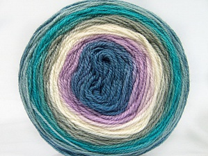 Fiber Content 70% Premium Acrylic, 30% Wool, Turquoise, Lilac, Khaki, Brand Ice Yarns, Cream, Blue Shades, Yarn Thickness 3 Light  DK, Light, Worsted, fnt2-61219