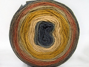 Fiber Content 70% Premium Acrylic, 30% Wool, Olive Green, Brand ICE, Dark Grey, Cream, Brown Shades, Yarn Thickness 3 Light  DK, Light, Worsted, fnt2-61228