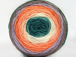Fiber Content 70% Premium Acrylic, 30% Wool, White, Teal, Orange Shades, Lilac, Brand Ice Yarns, Yarn Thickness 3 Light  DK, Light, Worsted, fnt2-61232