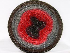 Fiber Content 95% Acrylic, 5% Metallic Lurex, Red Shades, Maroon, Brand Ice Yarns, Grey Shades, Brown, Yarn Thickness 3 Light  DK, Light, Worsted, fnt2-61257