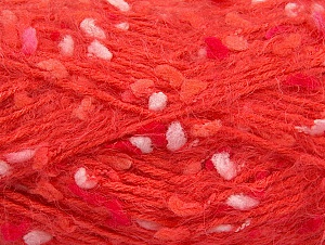 Fiber Content 50% Polyamide, 40% Premium Acrylic, 10% Polyester, White, Salmon, Brand Ice Yarns, Dark Salmon, Yarn Thickness 4 Medium  Worsted, Afghan, Aran, fnt2-61292
