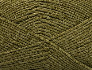 Fiber Content 60% Bamboo, 40% Polyamide, Khaki, Brand Ice Yarns, Yarn Thickness 2 Fine  Sport, Baby, fnt2-61314