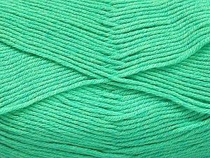 Fiber Content 60% Bamboo, 40% Polyamide, Mint Green, Brand Ice Yarns, Yarn Thickness 2 Fine  Sport, Baby, fnt2-61316