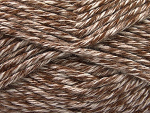 Fiber Content 100% Acrylic, White, Brand Ice Yarns, Brown, Yarn Thickness 6 SuperBulky  Bulky, Roving, fnt2-61355
