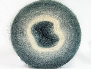 Fiber Content 60% Acrylic, 20% Wool, 20% Angora, White, Brand Ice Yarns, Grey Shades, Yarn Thickness 2 Fine  Sport, Baby, fnt2-61378