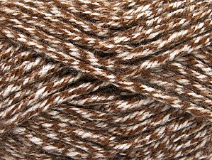 Fiber Content 100% Acrylic, Brand Ice Yarns, Cream, Brown, Yarn Thickness 6 SuperBulky  Bulky, Roving, fnt2-61999