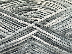Fiber Content 100% Acrylic, White, Light Grey, Brand Ice Yarns, Yarn Thickness 2 Fine  Sport, Baby, fnt2-62204