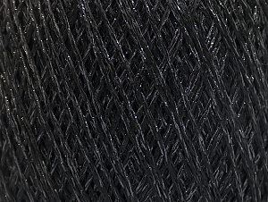 Fiber Content 75% Viscose, 25% Metallic Lurex, Brand Ice Yarns, Black, Yarn Thickness 2 Fine  Sport, Baby, fnt2-62219
