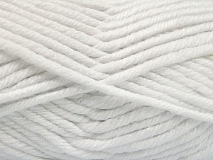 Fiber Content 100% Acrylic, White, Brand Ice Yarns, Yarn Thickness 6 SuperBulky  Bulky, Roving, fnt2-62371
