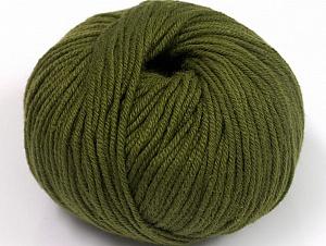Fiber Content 50% Cotton, 50% Acrylic, Brand Ice Yarns, Dark Khaki, Yarn Thickness 2 Fine  Sport, Baby, fnt2-62386