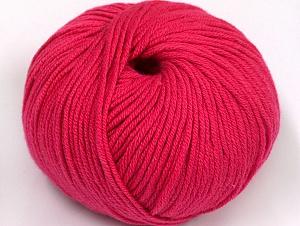 Fiber Content 50% Cotton, 50% Acrylic, Brand Ice Yarns, Fuchsia, Yarn Thickness 2 Fine  Sport, Baby, fnt2-62410