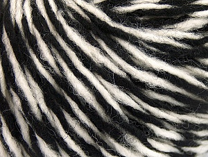 Fiber Content 60% Wool, 40% Acrylic, White, Brand Ice Yarns, Black, fnt2-62529