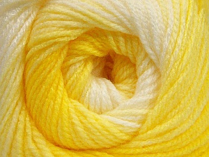 Fiber Content 100% Baby Acrylic, Yellow Shades, White, Brand Ice Yarns, Yarn Thickness 2 Fine  Sport, Baby, fnt2-62537