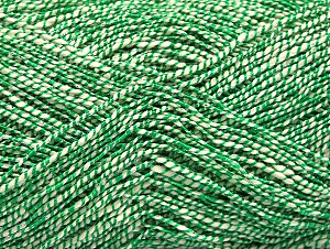 Fiber Content 60% Cotton, 28% Viscose, 10% Polyamide, White, Brand Ice Yarns, Green, Yarn Thickness 2 Fine  Sport, Baby, fnt2-62695
