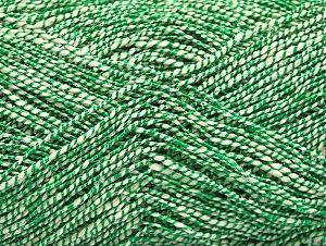 Fiber Content 60% Cotton, 28% Viscose, 10% Polyamide, White, Brand Ice Yarns, Green, Yarn Thickness 2 Fine Sport, Baby, fnt2-62695