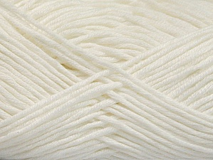 Fiber Content 50% Cotton, 50% Acrylic, White, Brand ICE, Yarn Thickness 3 Light  DK, Light, Worsted, fnt2-62730