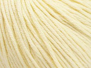 Fiber Content 50% Cotton, 50% Acrylic, Brand ICE, Cream, Yarn Thickness 3 Light  DK, Light, Worsted, fnt2-62731