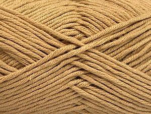 Fiber Content 50% Cotton, 50% Acrylic, Light Brown, Brand Ice Yarns, Yarn Thickness 3 Light  DK, Light, Worsted, fnt2-62732
