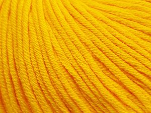 Fiber Content 50% Cotton, 50% Acrylic, Yellow, Brand Ice Yarns, Yarn Thickness 3 Light  DK, Light, Worsted, fnt2-62735