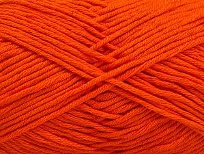 Fiber Content 50% Cotton, 50% Acrylic, Brand Ice Yarns, Dark Orange, Yarn Thickness 3 Light  DK, Light, Worsted, fnt2-62738