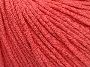 Fiber Content 50% Acrylic, 50% Cotton, Salmon, Brand Ice Yarns, Yarn Thickness 3 Light  DK, Light, Worsted, fnt2-62739