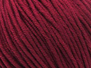 Fiber Content 50% Cotton, 50% Acrylic, Brand Ice Yarns, Burgundy, Yarn Thickness 3 Light  DK, Light, Worsted, fnt2-62742