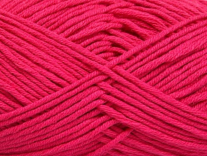 Fiber Content 50% Cotton, 50% Acrylic, Brand Ice Yarns, Fuchsia, Yarn Thickness 3 Light  DK, Light, Worsted, fnt2-62743