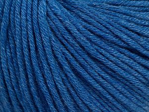 Fiber Content 50% Cotton, 50% Acrylic, Jeans Blue, Brand Ice Yarns, Yarn Thickness 3 Light  DK, Light, Worsted, fnt2-62745